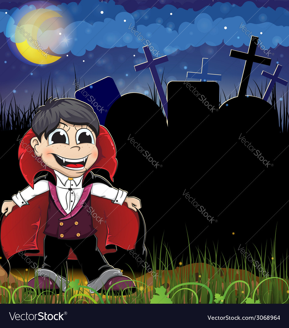 Smiling vampire vector | Price: 3 Credit (USD $3)