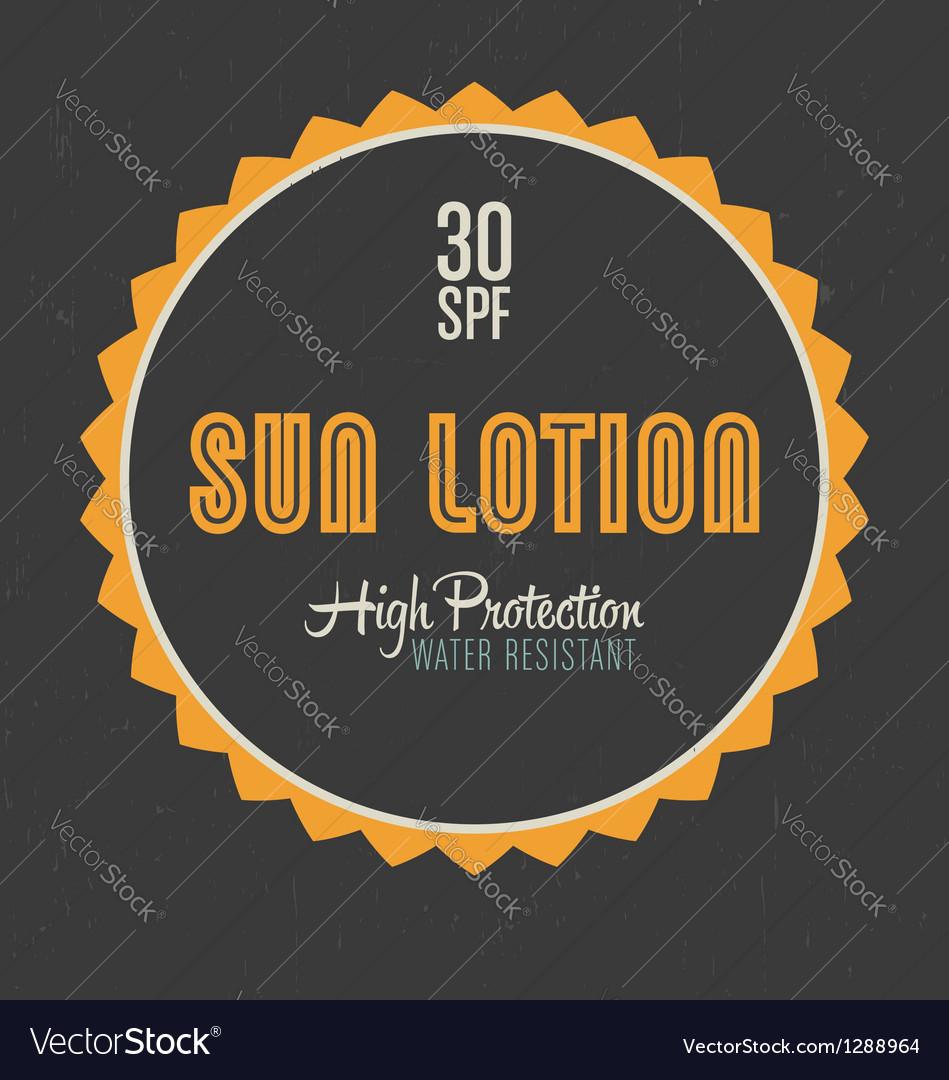 Sun lotion design vector | Price: 1 Credit (USD $1)