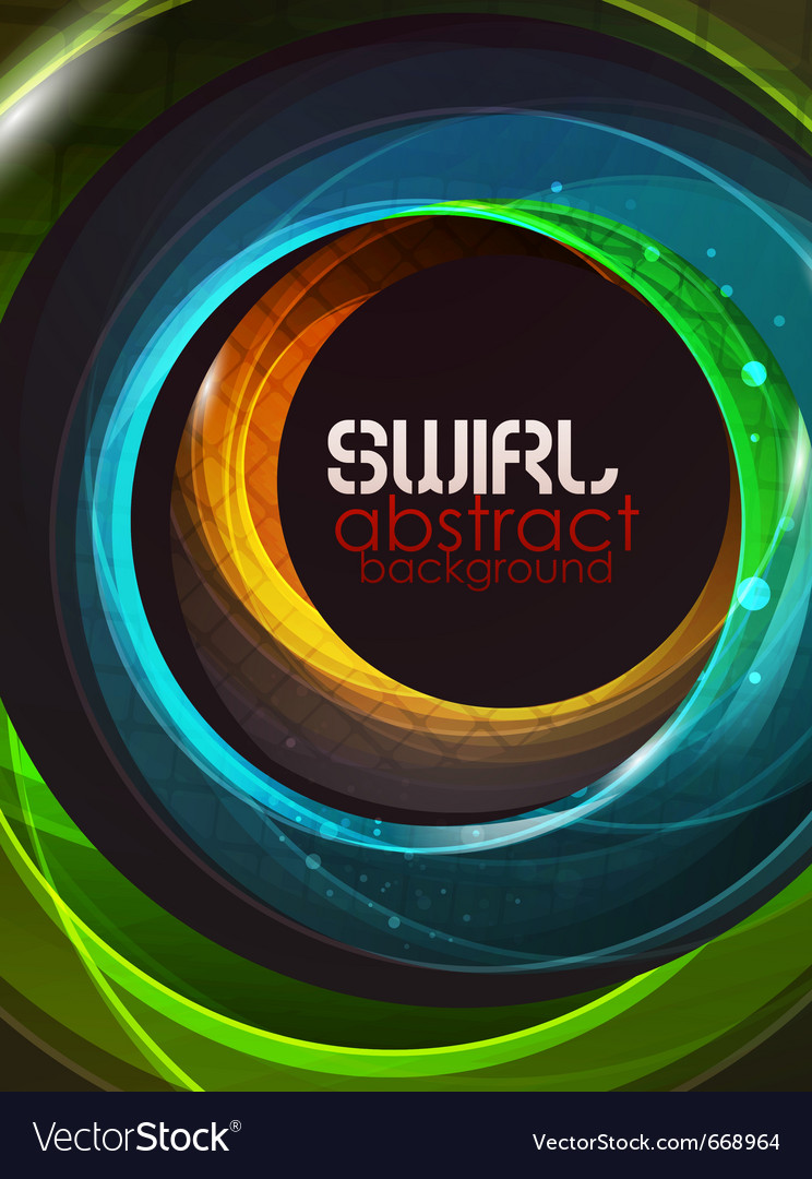 Swirl abstract background vector | Price: 1 Credit (USD $1)