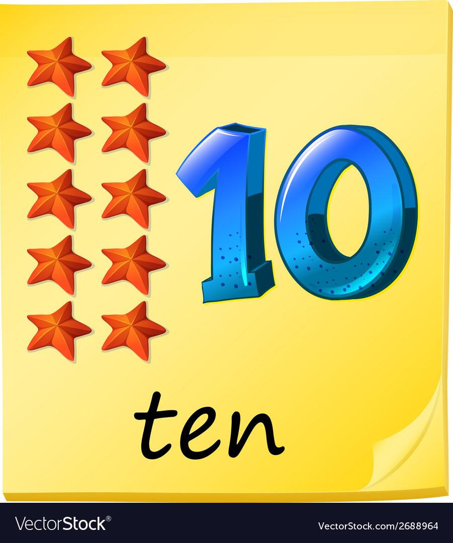 Ten stars vector | Price: 1 Credit (USD $1)