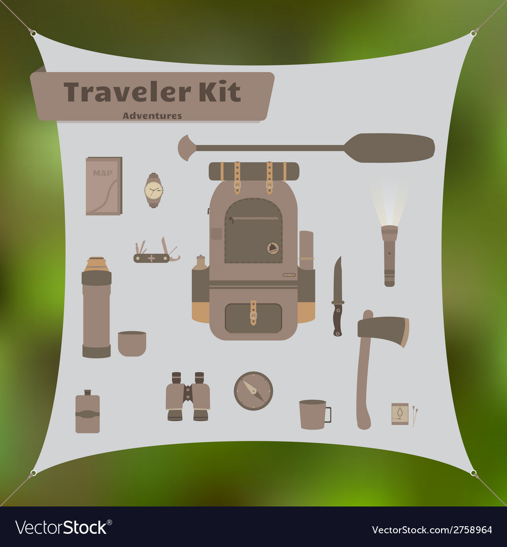 Traveler kit vector | Price: 1 Credit (USD $1)