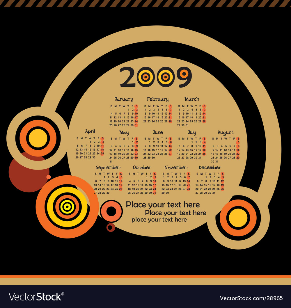 2009calendar vector   Price: 1 Credit (USD $1)