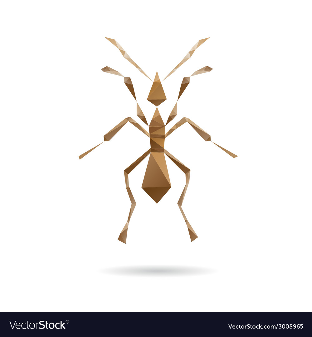 Ant abstract isolated vector | Price: 1 Credit (USD $1)