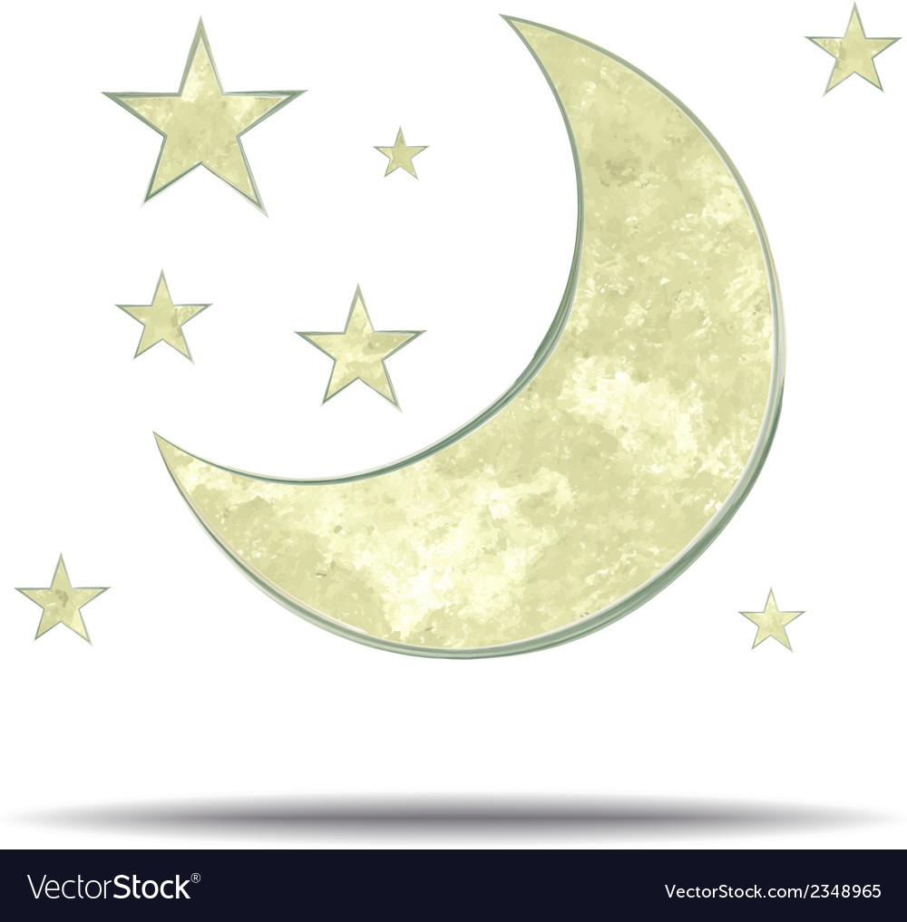 Climate moon and stars vector | Price: 1 Credit (USD $1)