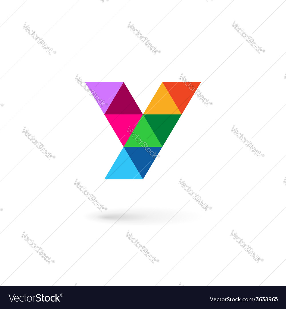 Letter y mosaic logo icon design template elements vector | Price: 1 Credit (USD $1)