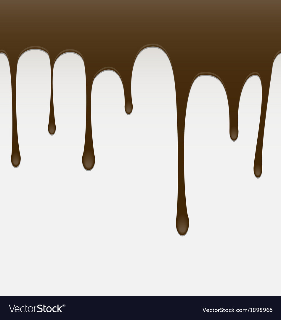 Seamless chocolate melt background vector | Price: 1 Credit (USD $1)