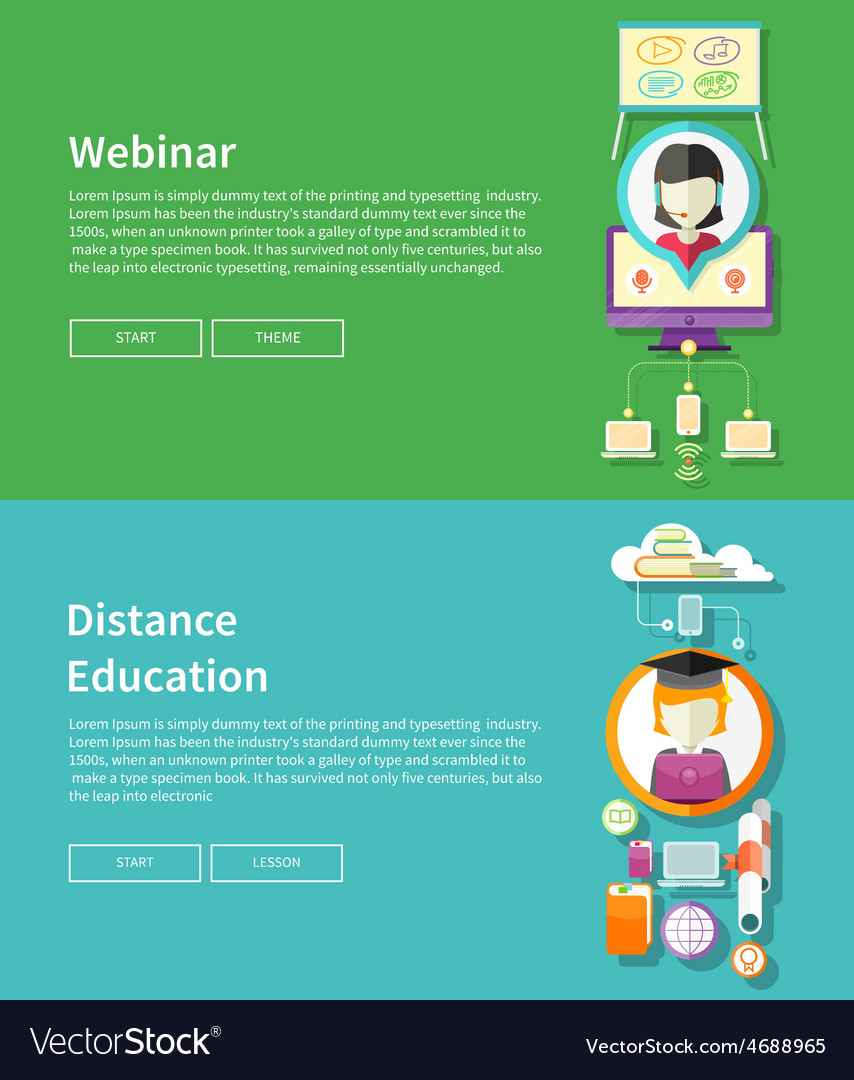 Webinar and distance education vector | Price: 1 Credit (USD $1)