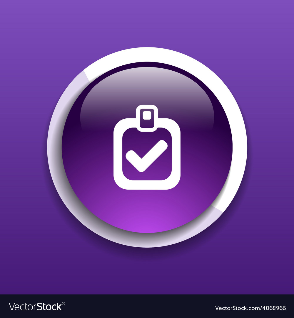 Checkmark icon test form mark tick check choice vector | Price: 1 Credit (USD $1)