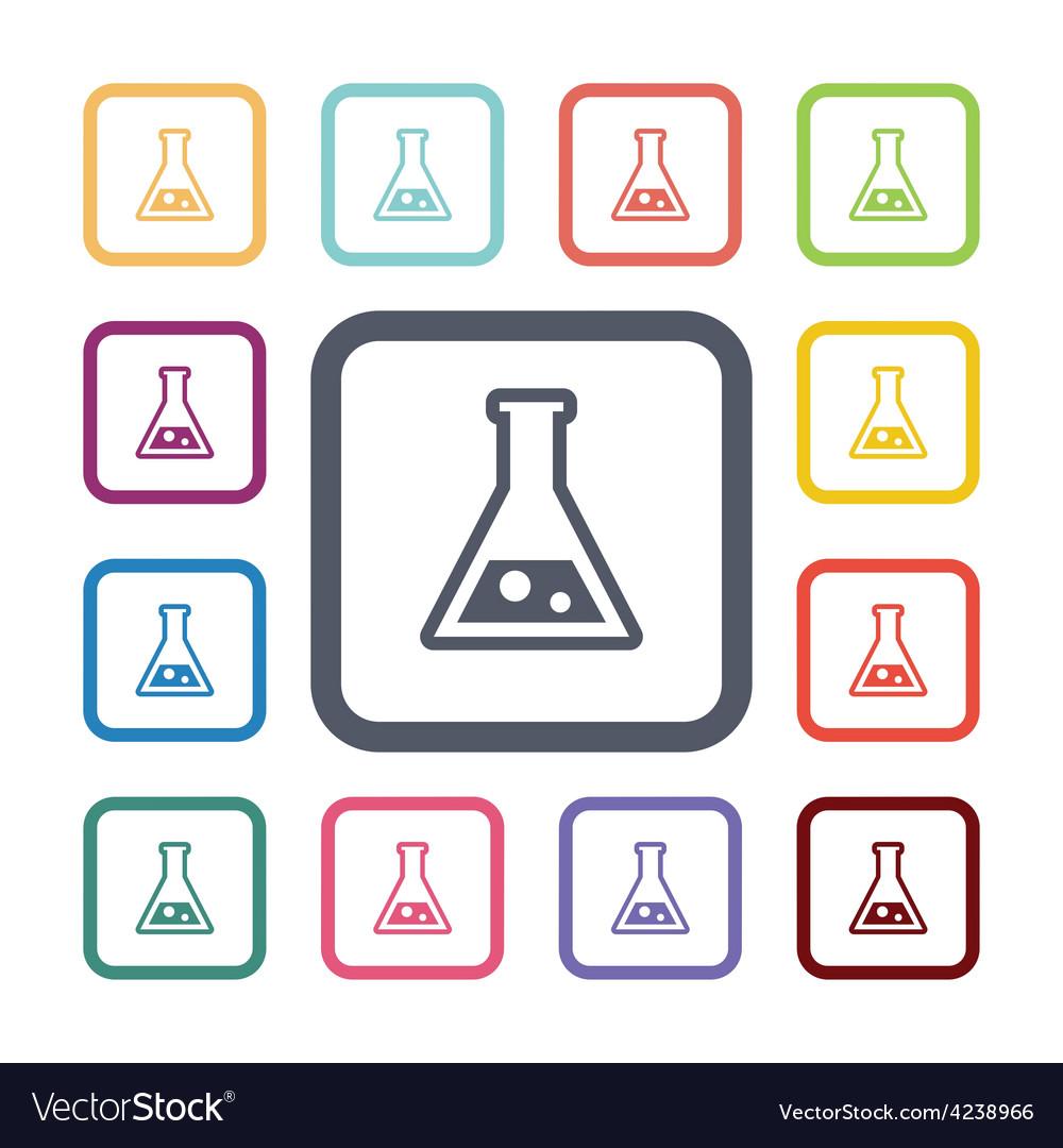 Laboratory flat icons set vector | Price: 1 Credit (USD $1)