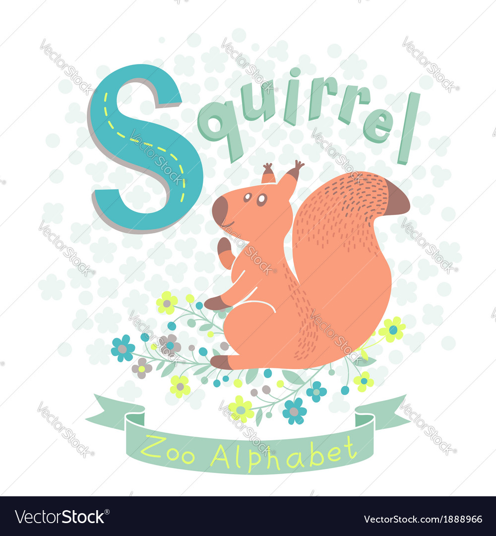 Letter s - squirrel vector   Price: 1 Credit (USD $1)