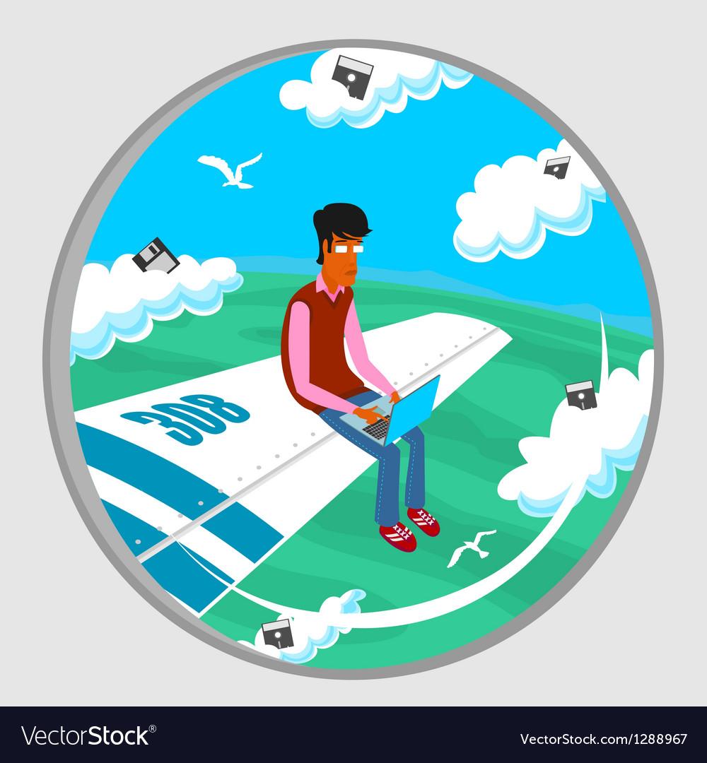 Airplane window vector | Price: 3 Credit (USD $3)