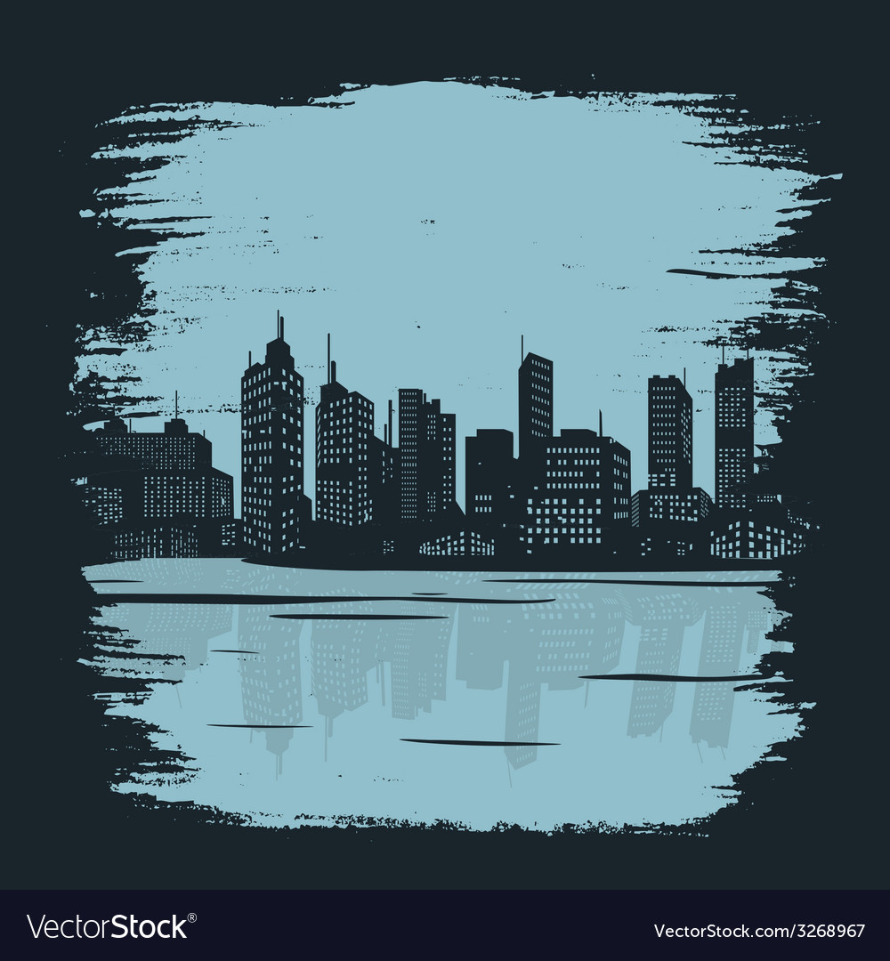 Background building city vector | Price: 1 Credit (USD $1)