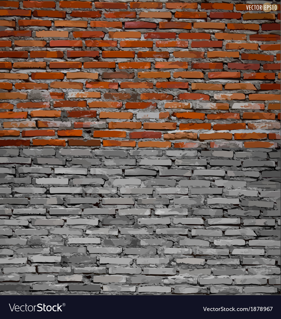 Collection of brick wall background vector | Price: 1 Credit (USD $1)