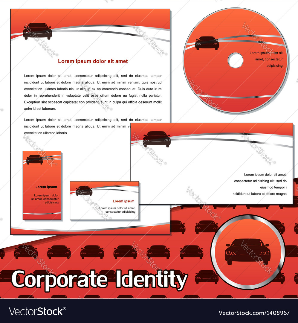 Corporate identity sample for transportation vector | Price: 1 Credit (USD $1)