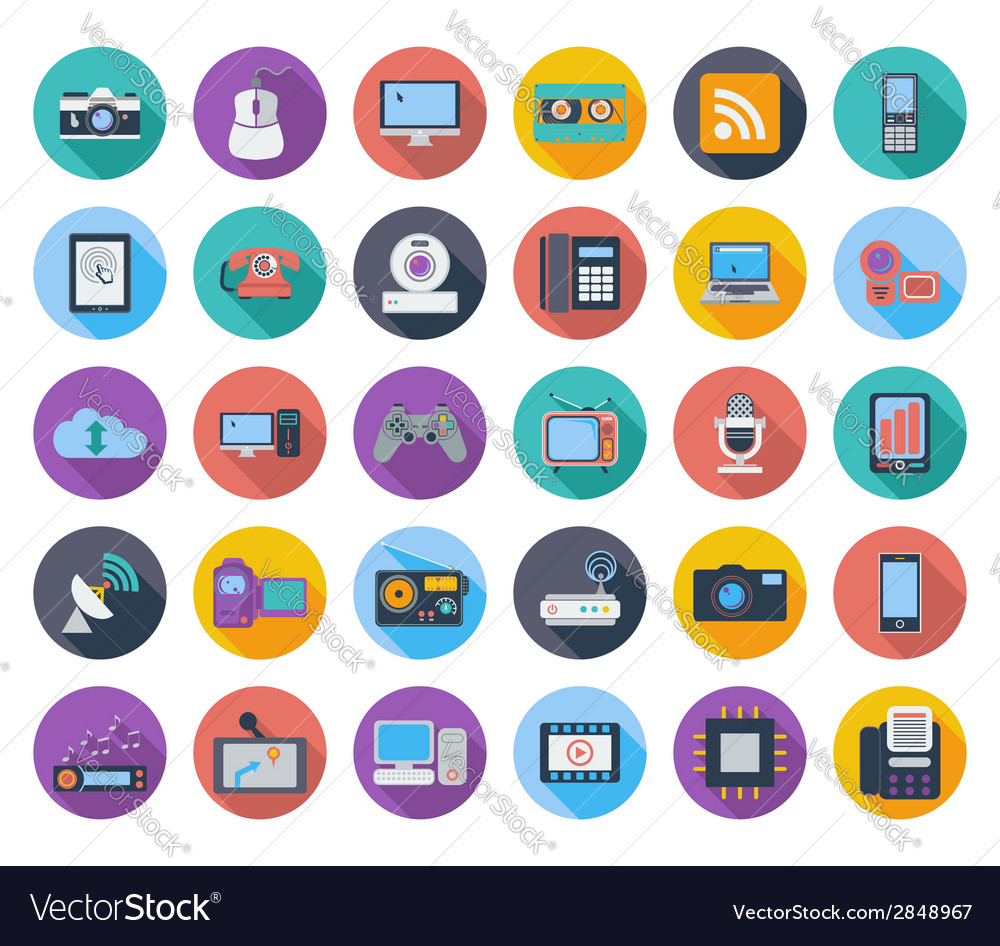 Devices icons vector | Price: 1 Credit (USD $1)