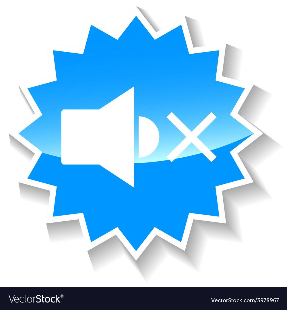 No sound blue icon vector | Price: 1 Credit (USD $1)