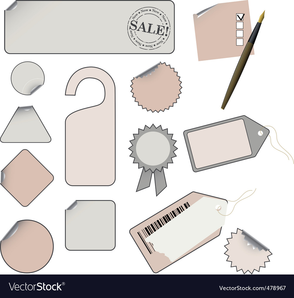 set of tags vector   Price: 1 Credit (USD $1)