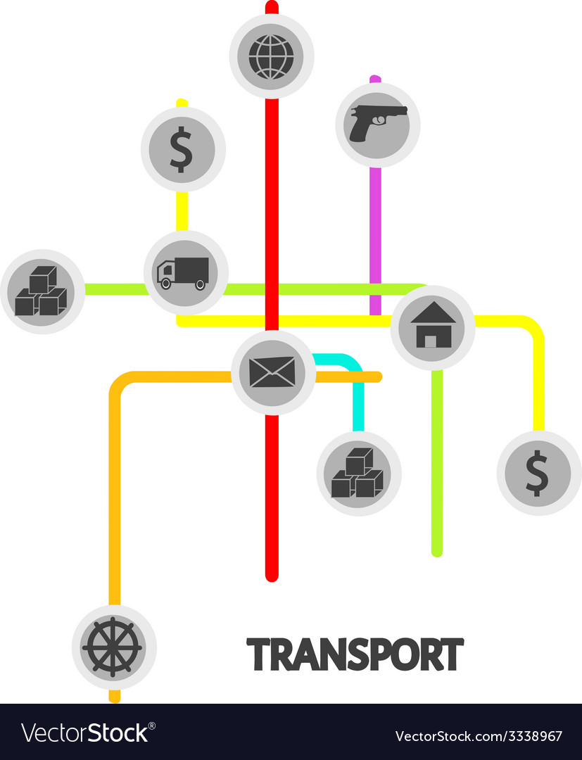 Transport scheme vector | Price: 1 Credit (USD $1)