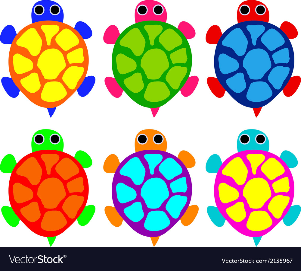 Turtles vector | Price: 1 Credit (USD $1)