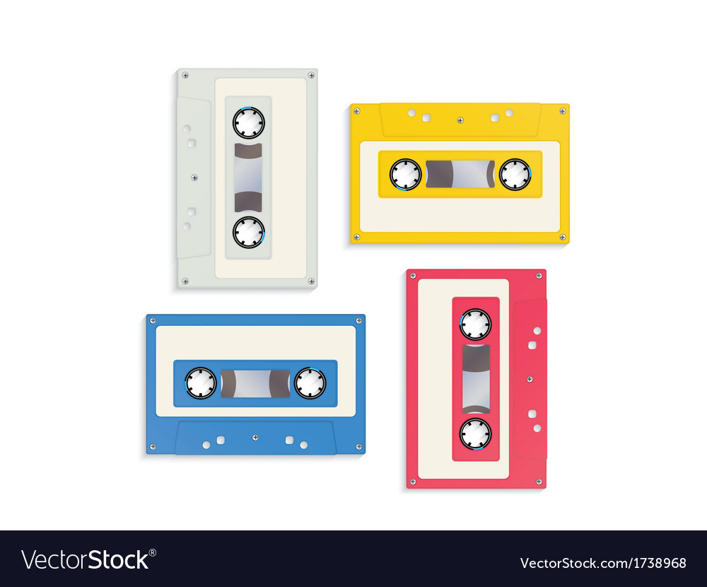 Audio tapes vector | Price: 1 Credit (USD $1)