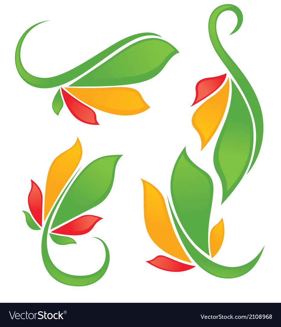 Bright leaves vector | Price: 1 Credit (USD $1)
