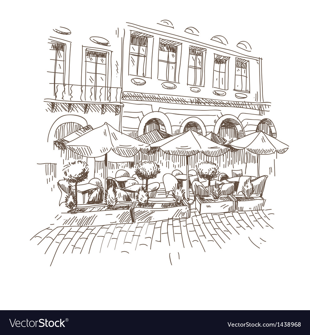 Cafe hand drawn vector | Price: 1 Credit (USD $1)
