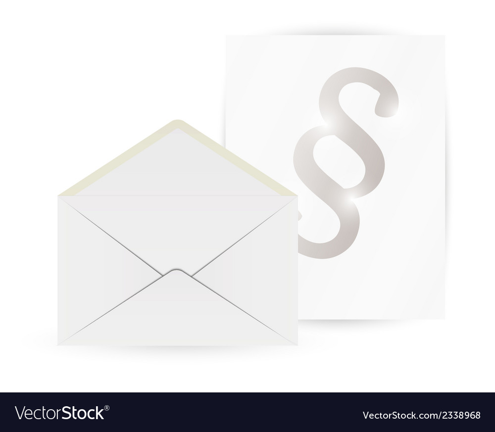 Envelope and paper with paragraph vector | Price: 1 Credit (USD $1)