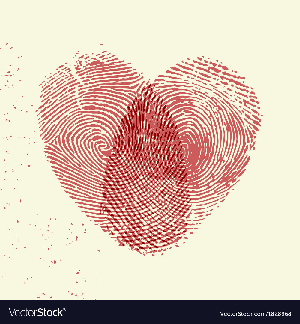 Fingerprint heart vector | Price: 1 Credit (USD $1)