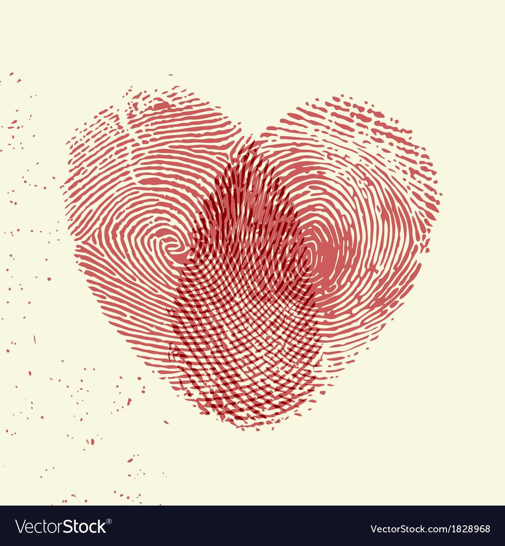 Fingerprint heart vector | Price: 1 Credit (USD $1)