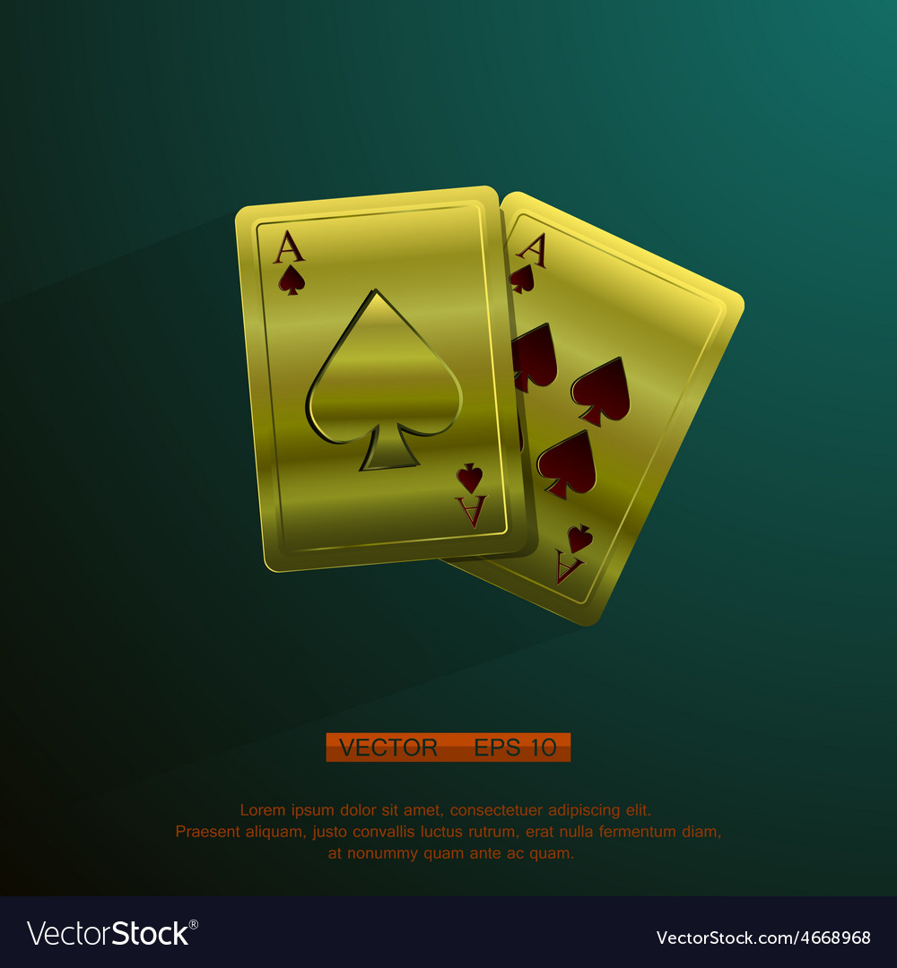 Golden aces vector | Price: 1 Credit (USD $1)