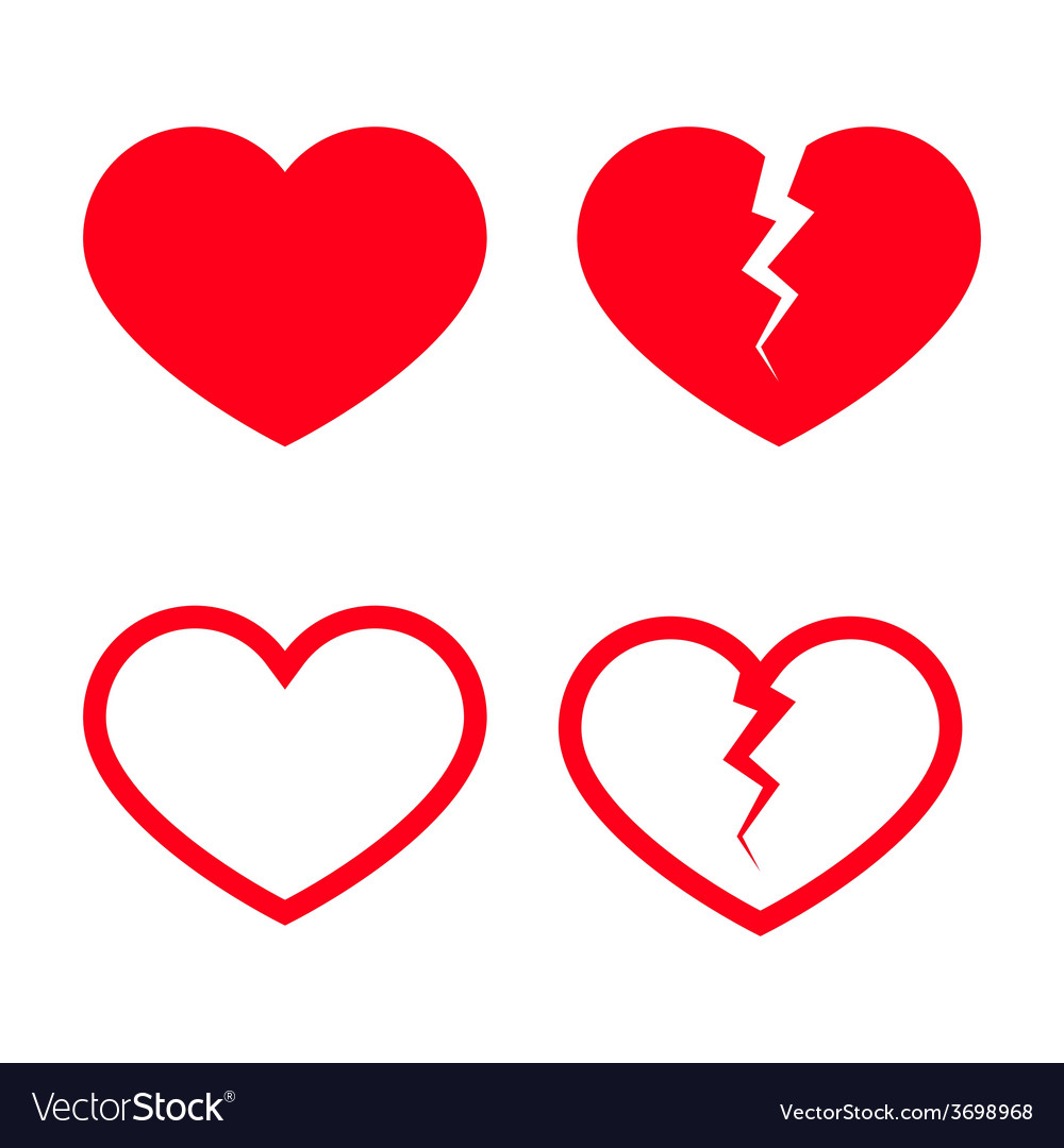 Heart shape icons vector | Price: 1 Credit (USD $1)