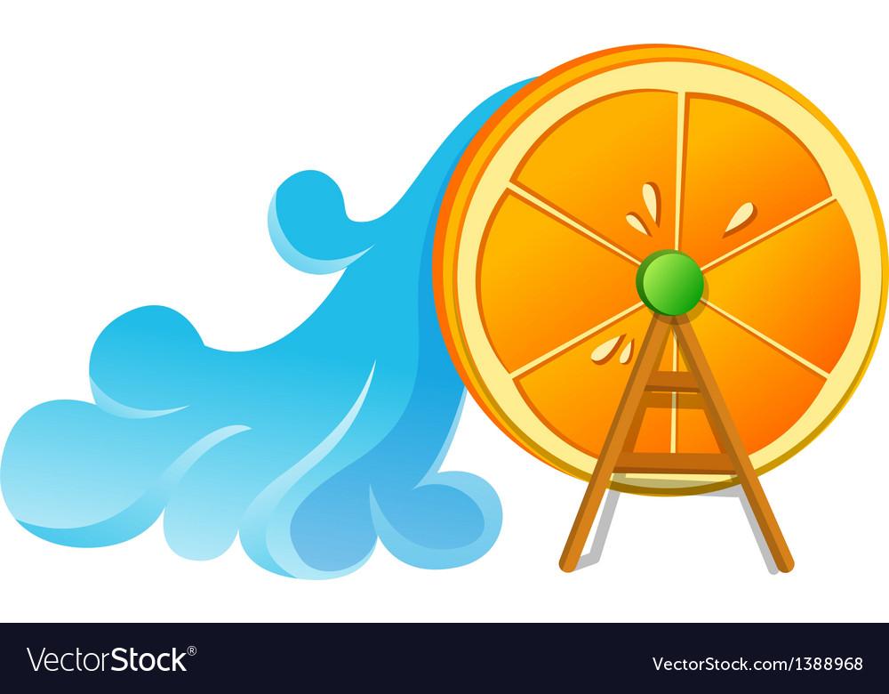 Icon orage and wavewheel vector   Price: 1 Credit (USD $1)