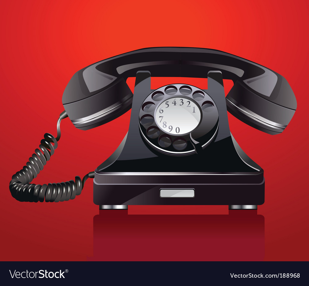 Old phone vector | Price: 3 Credit (USD $3)