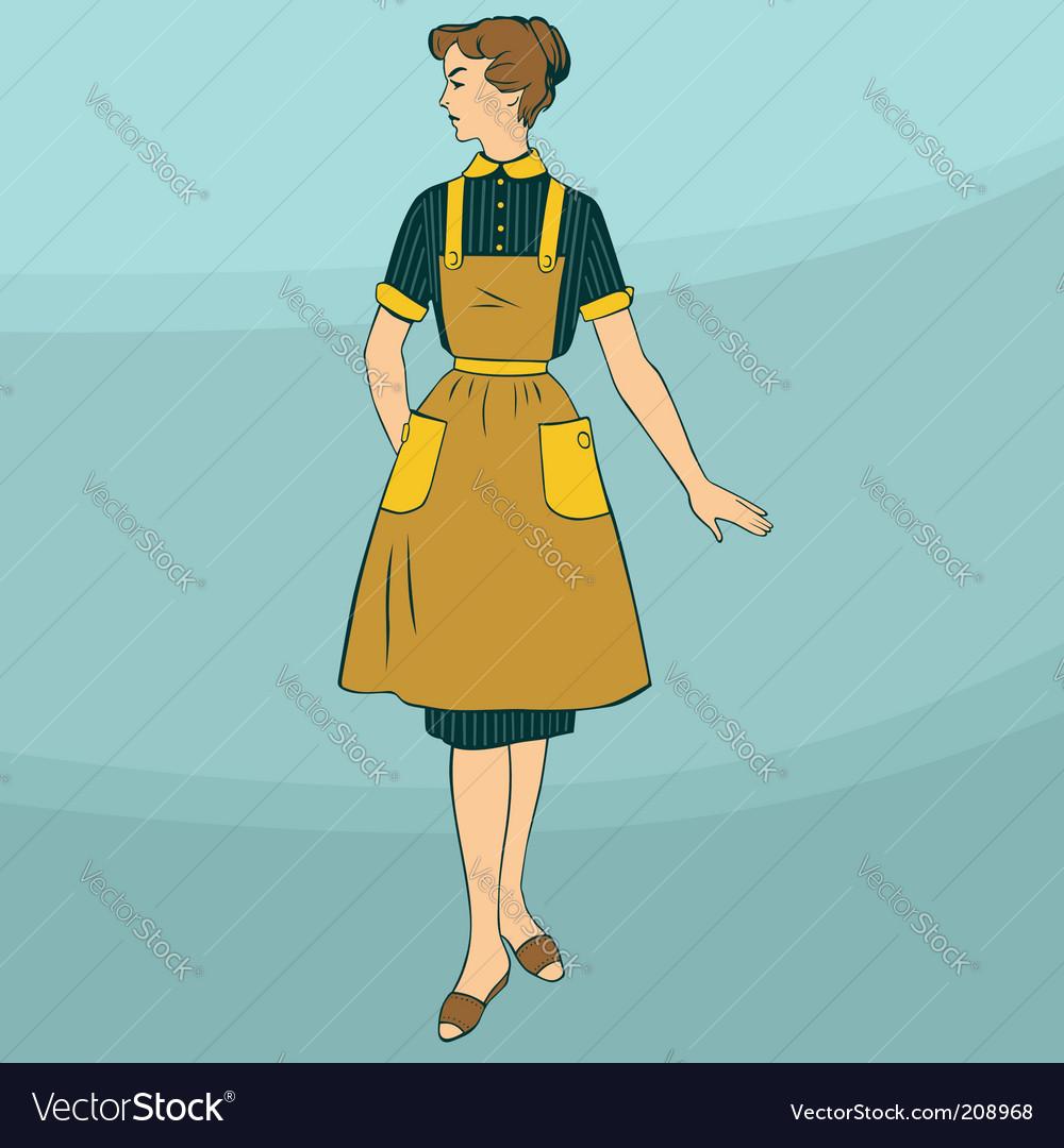 Retro woman vector | Price: 1 Credit (USD $1)