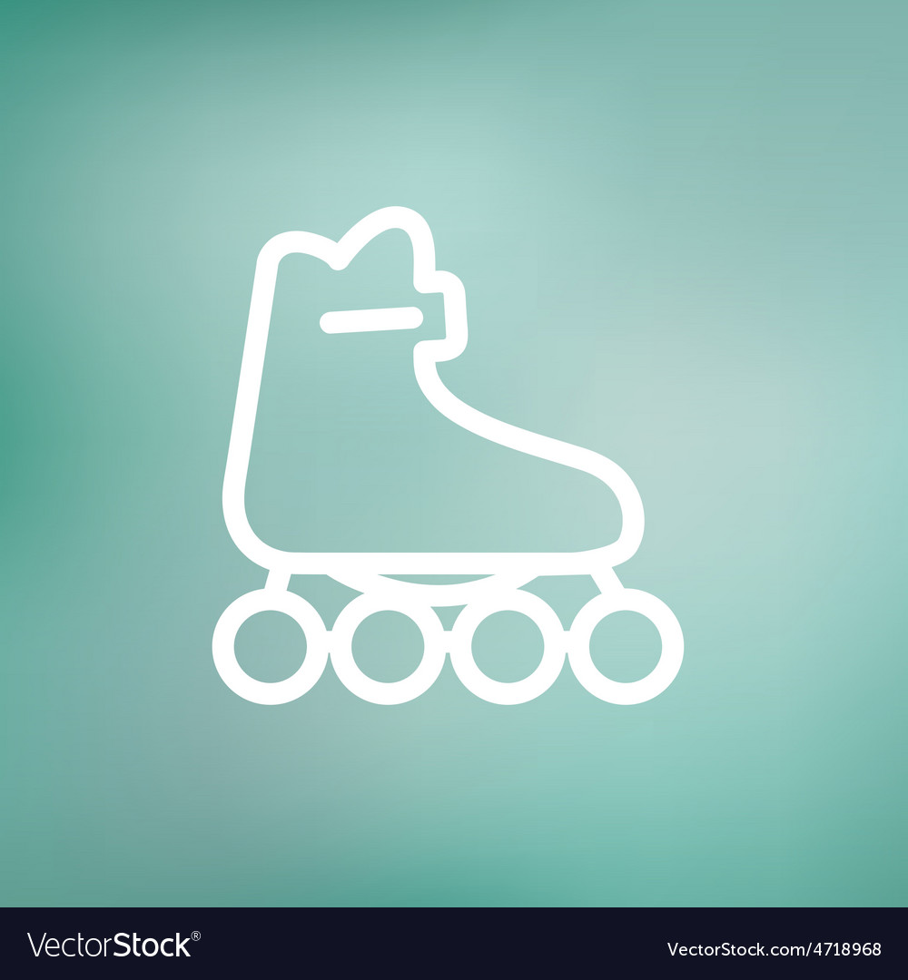 Roller skate thin line icon vector | Price: 1 Credit (USD $1)