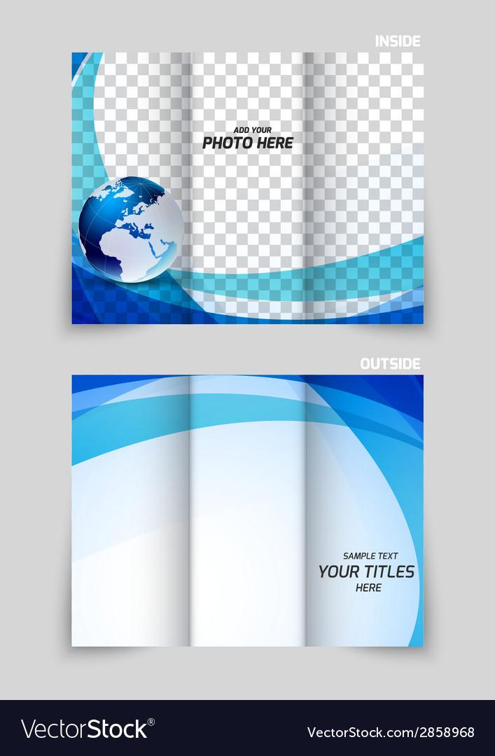 Tri-fold brochure template design vector | Price: 1 Credit (USD $1)