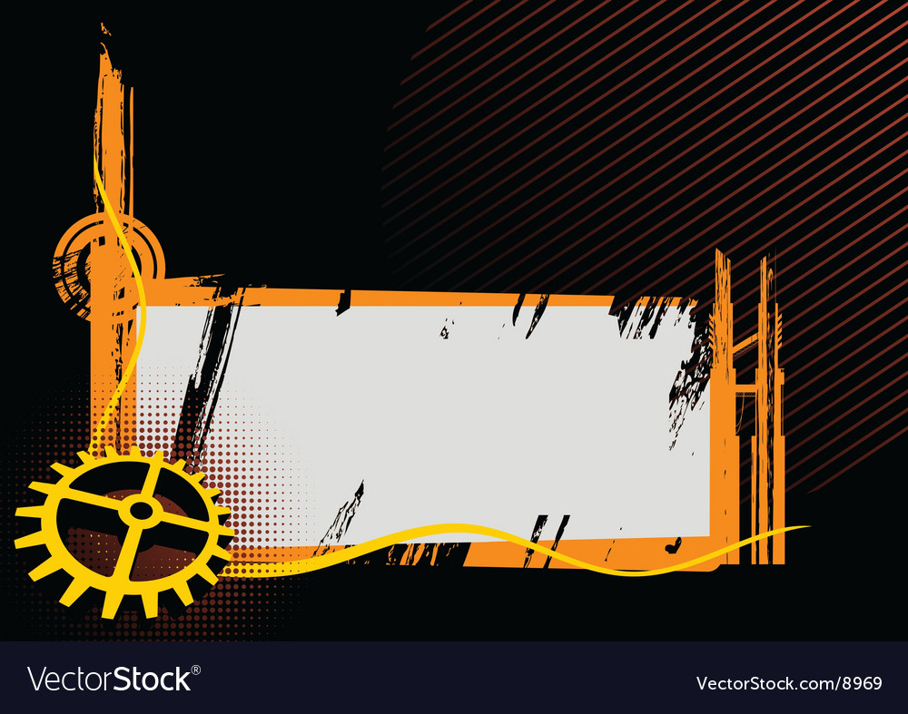 Black and orange industrial frame vector | Price: 1 Credit (USD $1)