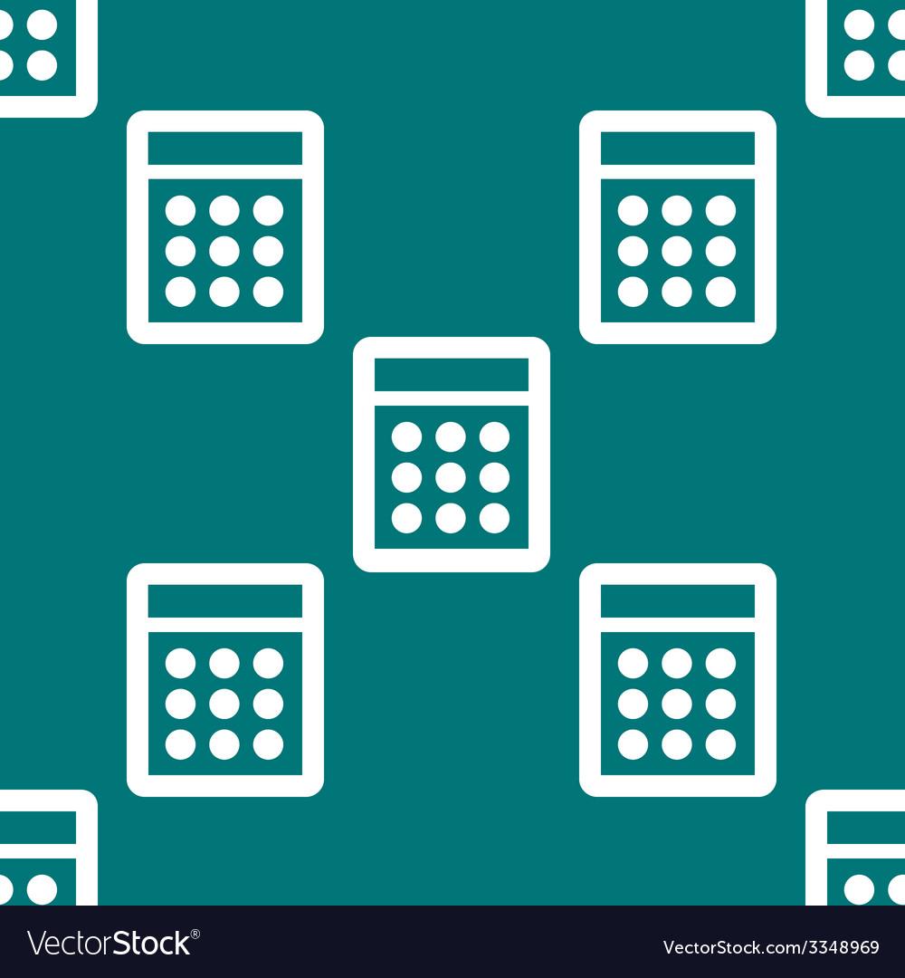 Calculator web icon flat design seamless pattern vector | Price: 1 Credit (USD $1)