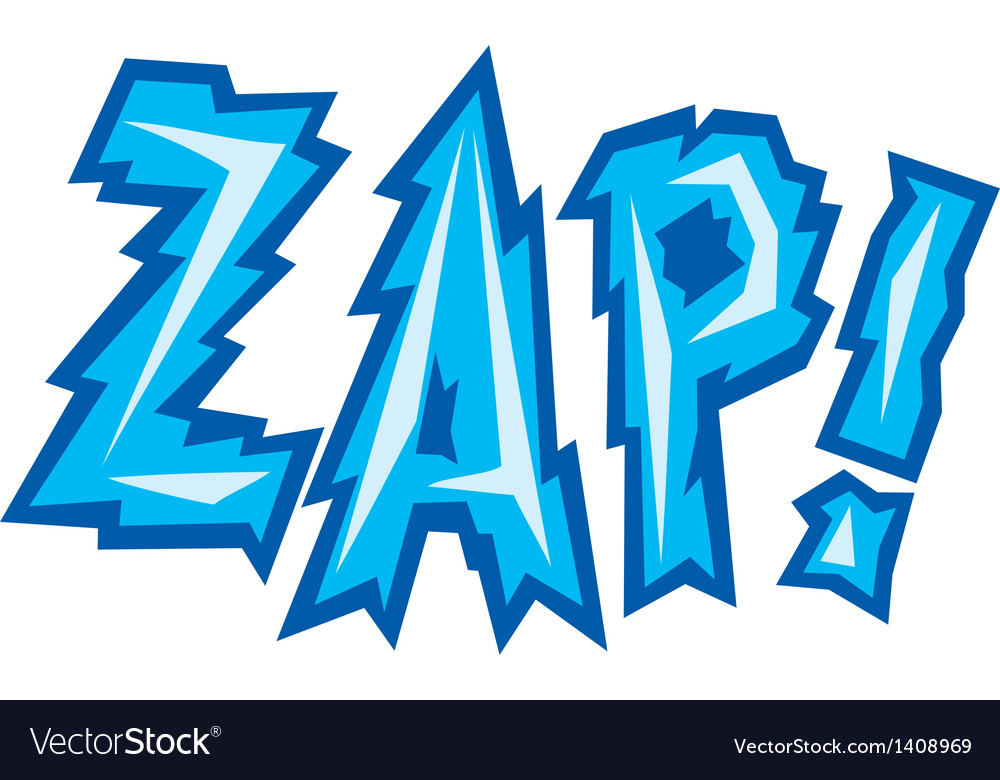 Cartoon - zap vector | Price: 1 Credit (USD $1)