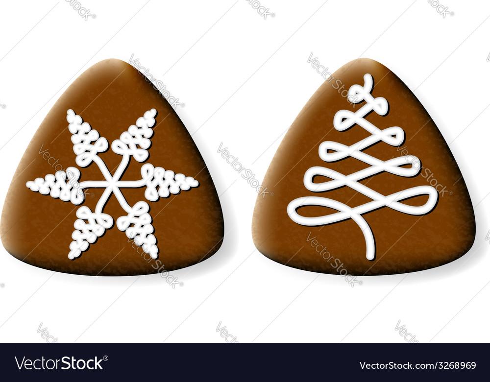 Christmas gingerbread cookies vector | Price: 1 Credit (USD $1)