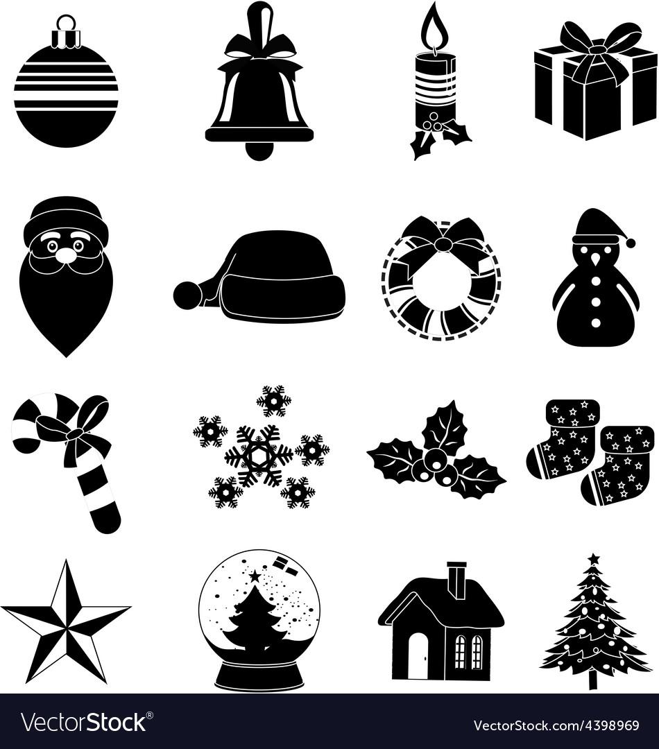 Christmas icons set vector | Price: 3 Credit (USD $3)