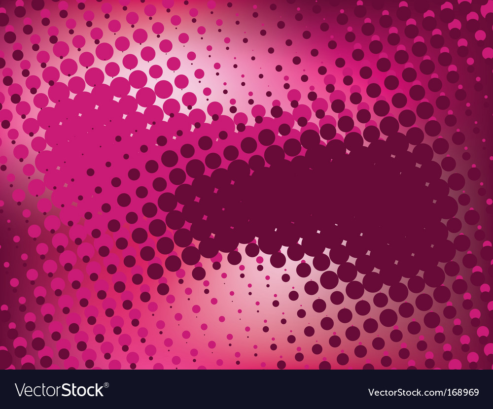 Pink abstract background with halftone vector | Price: 1 Credit (USD $1)