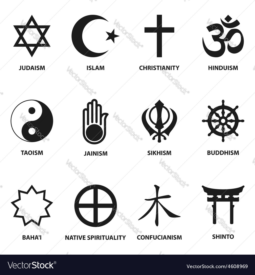 Religious sign and symbols vector | Price: 1 Credit (USD $1)