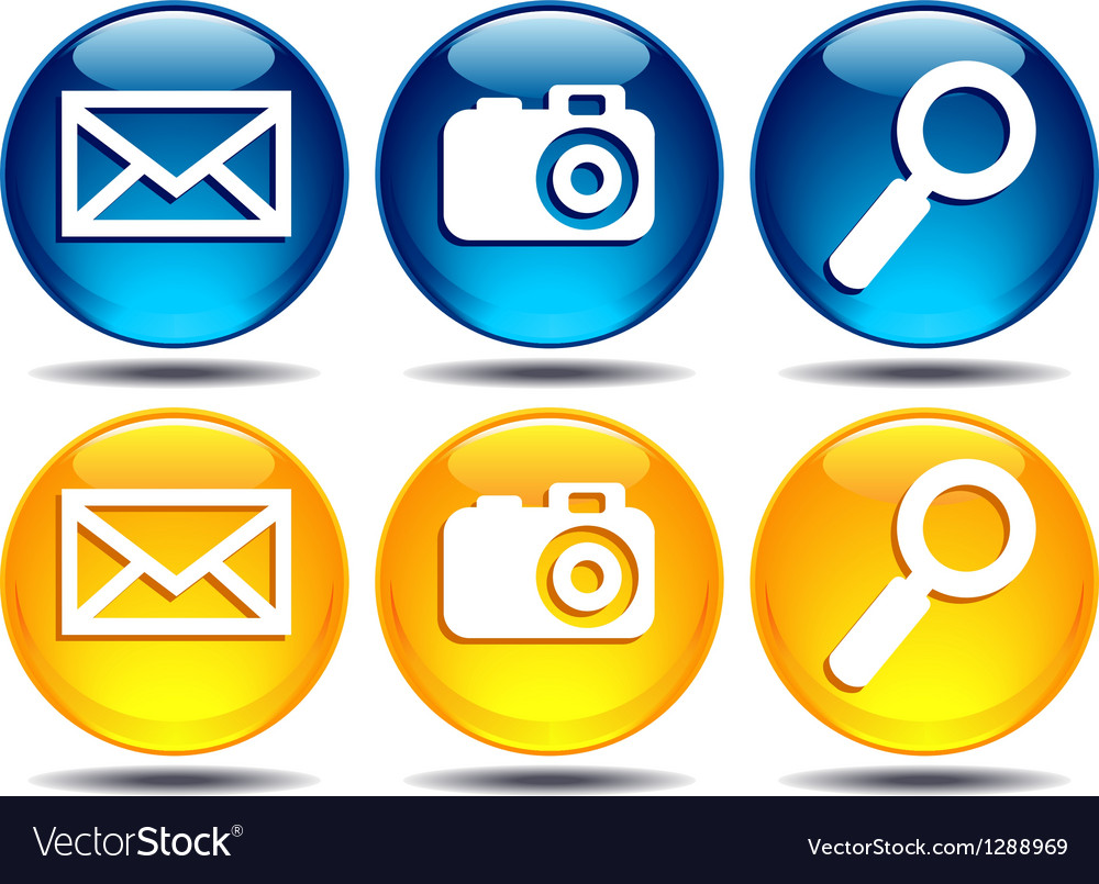 Search picture email icons vector | Price: 1 Credit (USD $1)