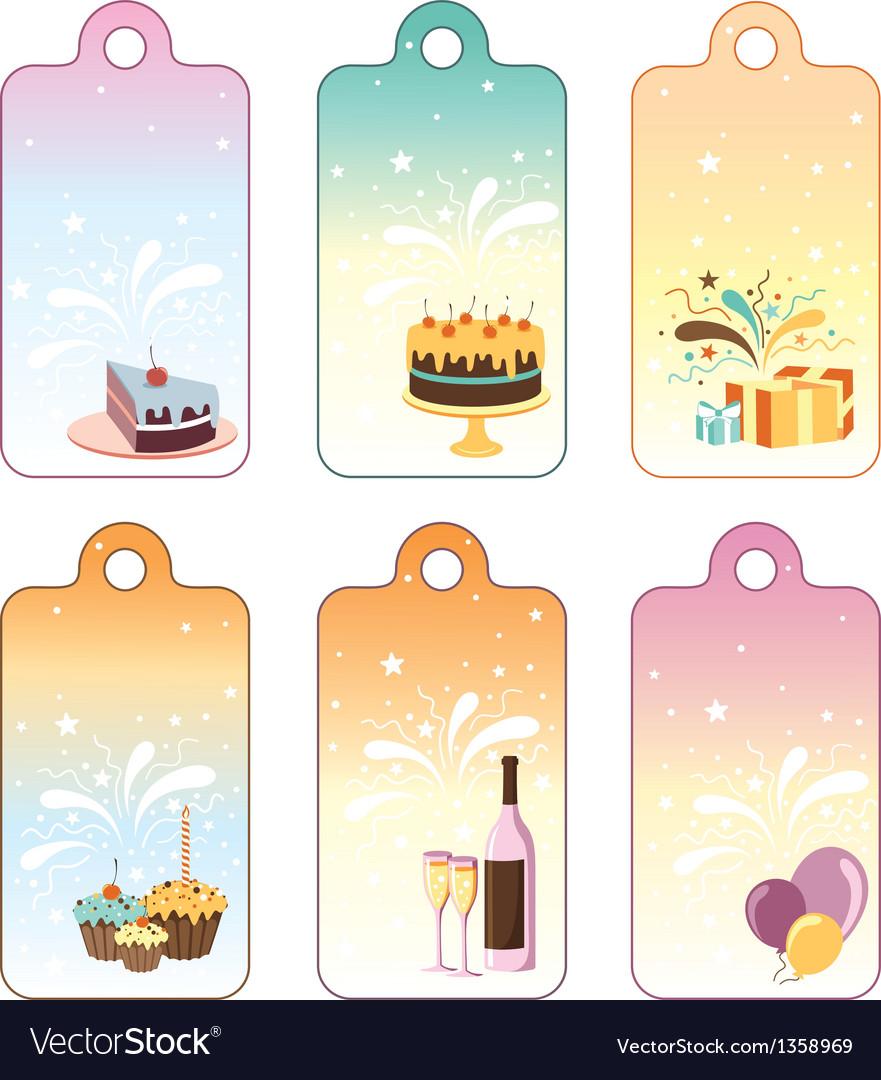 Set of celebration labels vector | Price: 1 Credit (USD $1)