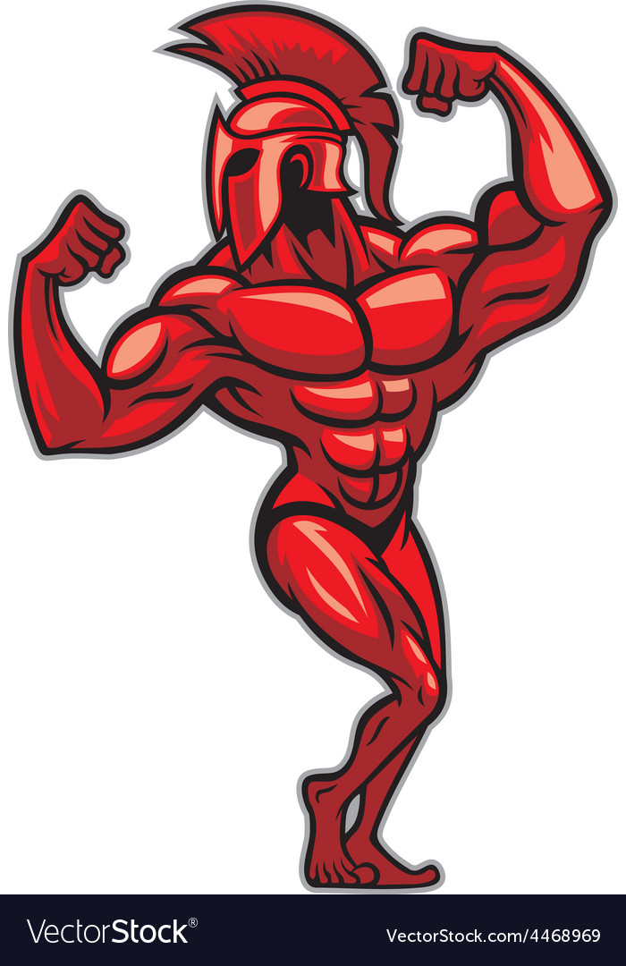 Spartan pose and show his big muscle vector | Price: 3 Credit (USD $3)