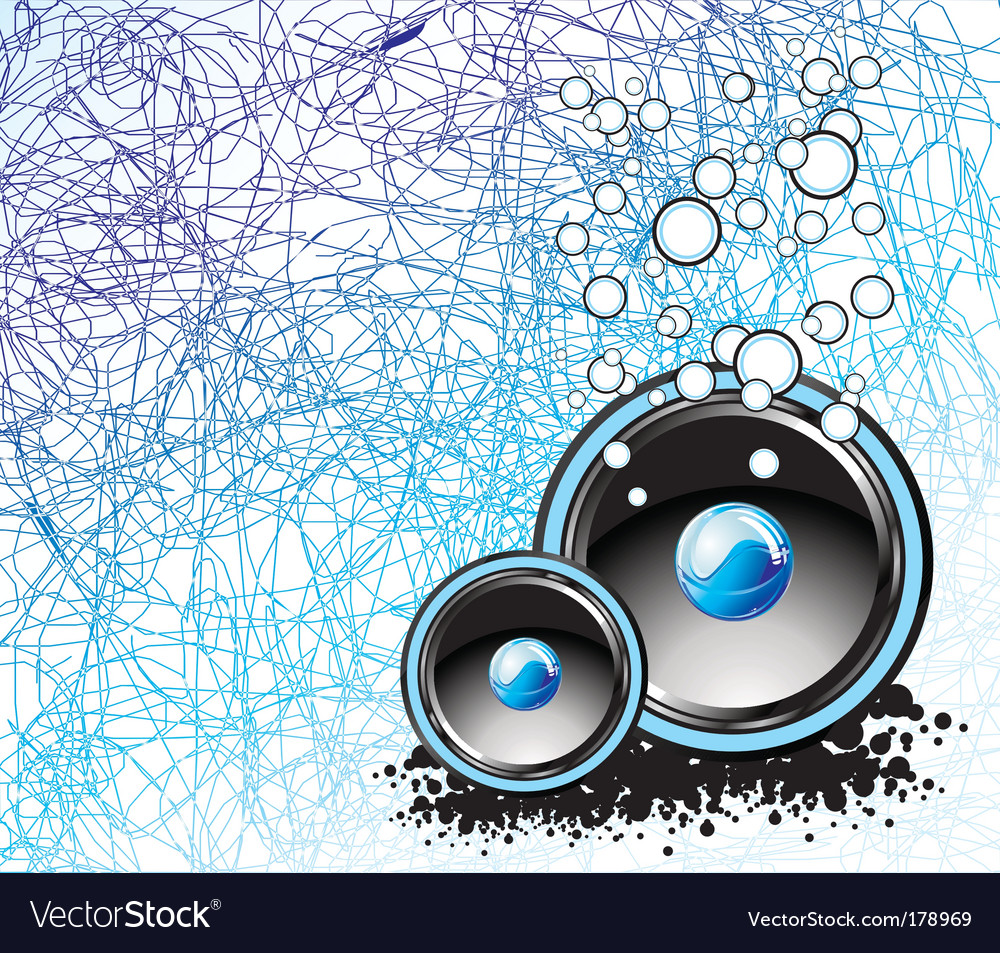 Underwater music background vector | Price: 3 Credit (USD $3)