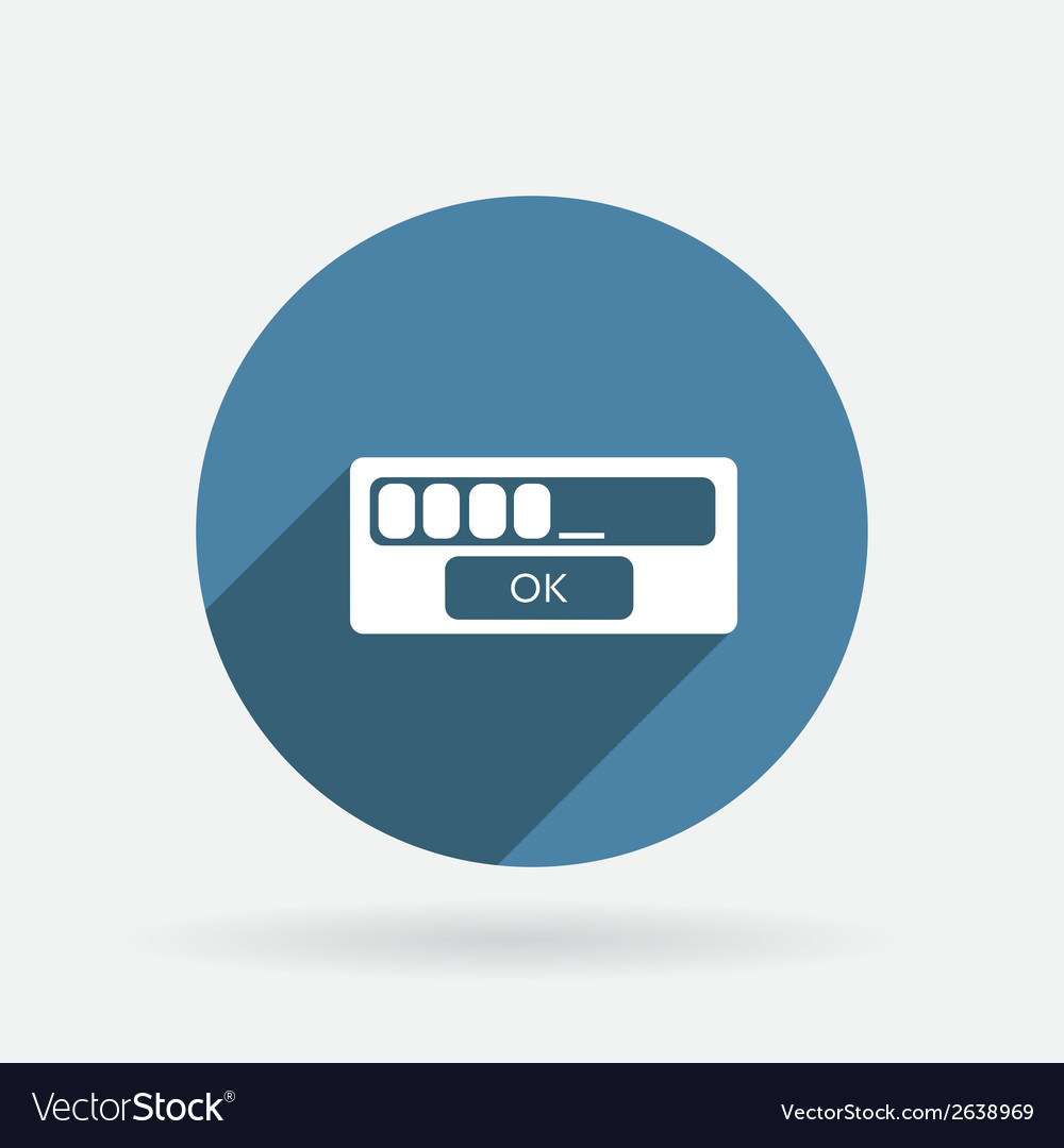 Web-interface circle blue icon with shadow vector | Price: 1 Credit (USD $1)