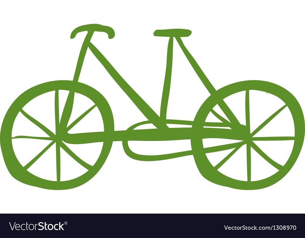 A green bike vector | Price: 1 Credit (USD $1)