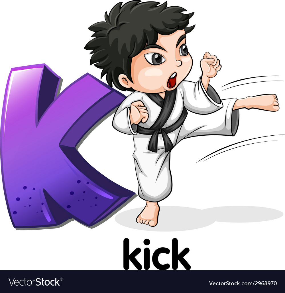 A letter k for kick vector | Price: 1 Credit (USD $1)